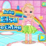 Baby Elsa Bathing