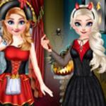 Princesses Happy Halloween's Day