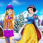 Rapunzel And Snow White Winter Dress Up