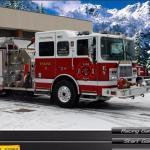 Winter Firefighters Truck
